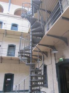 prisoner staircase (the guards got the straight stairway)