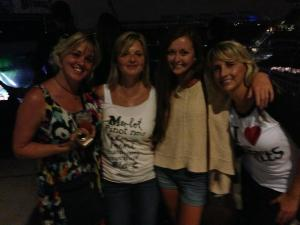 hot, sweaty & happy, Paul McCartney does it like that to you :)  but....we didn't get rain.