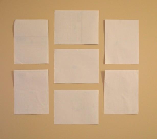 Arrange paper first